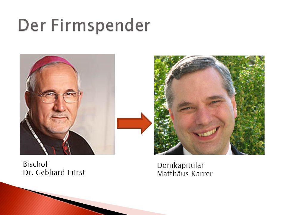Bischof Dr. Gebhard Fürst Domkapitular Matthäus Karrer