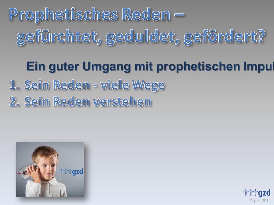  gzd 2014 Ein guter Umgang mit prophetischen Impulsen