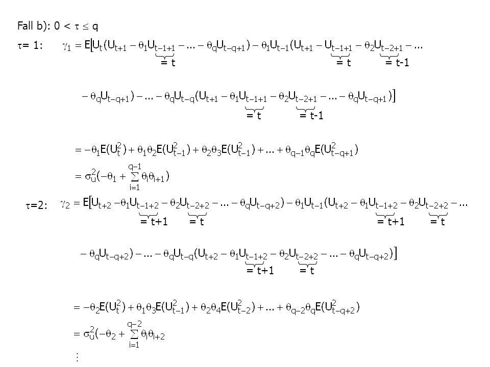 Fall b): 0 <   q  = 1:  =2: = t = t-1= t = t-1= t = t+1 = t = t+1
