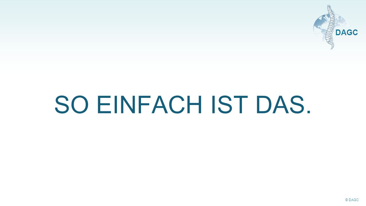 © DAGC DAGC SO EINFACH IST DAS.