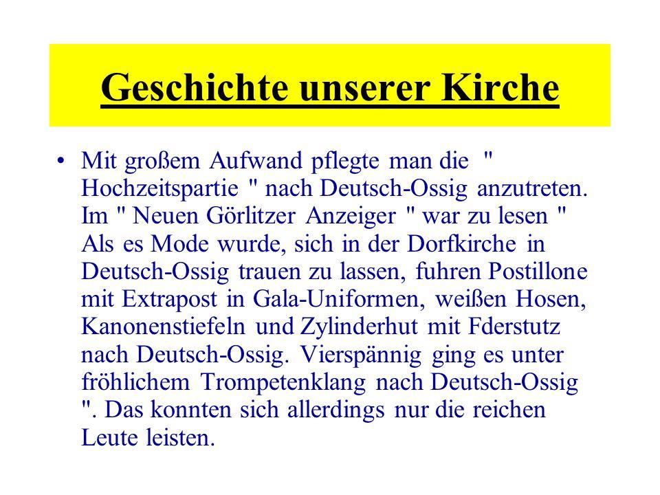 Die Deutsch-Ossiger Kirche ist eine der schönsten deutschen Landkirchen.