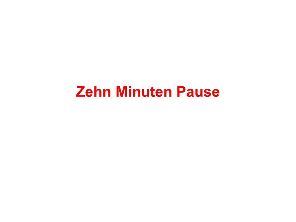 Zehn Minuten Pause