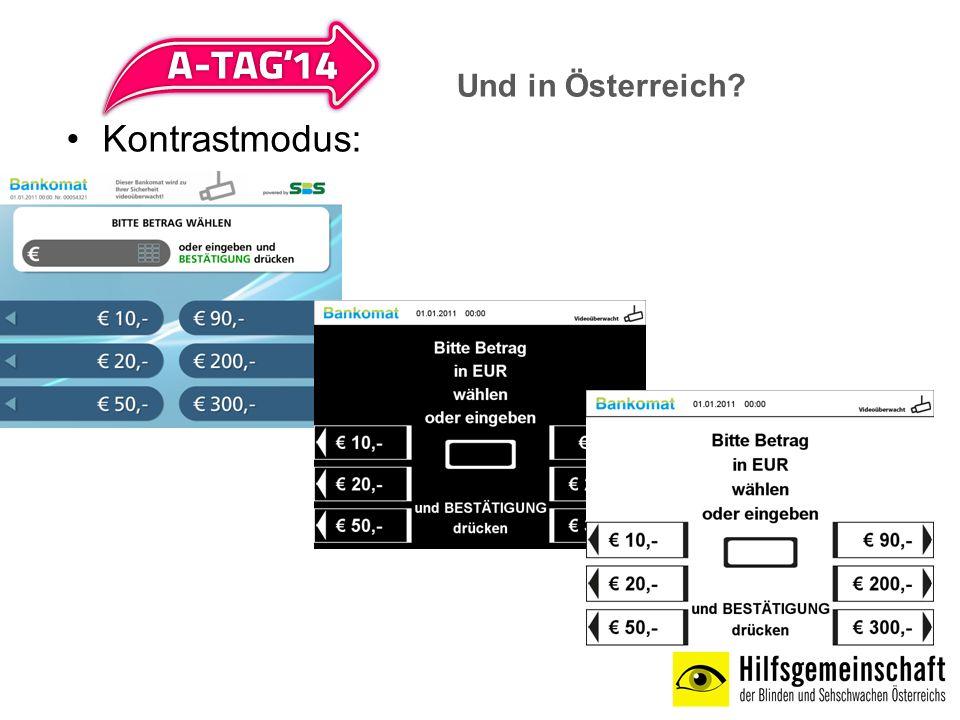 Kontrastmodus: Und in Österreich?
