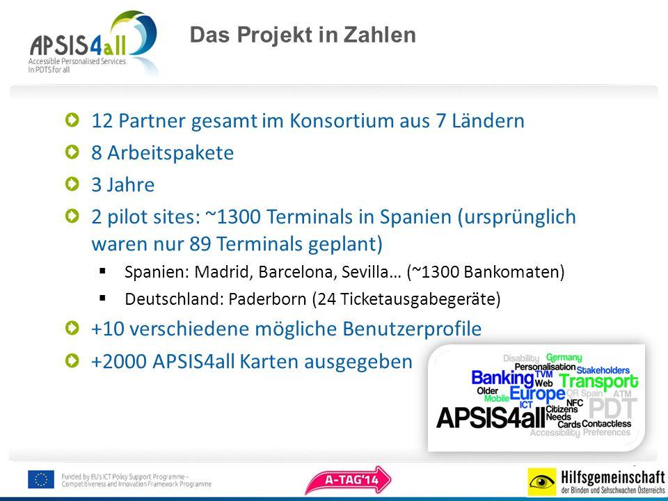 Konsortium 12 Partner in 7 europäischen Ländern: Spanien, Deutschland, UK, France, Österreich, Italien und Griechenland