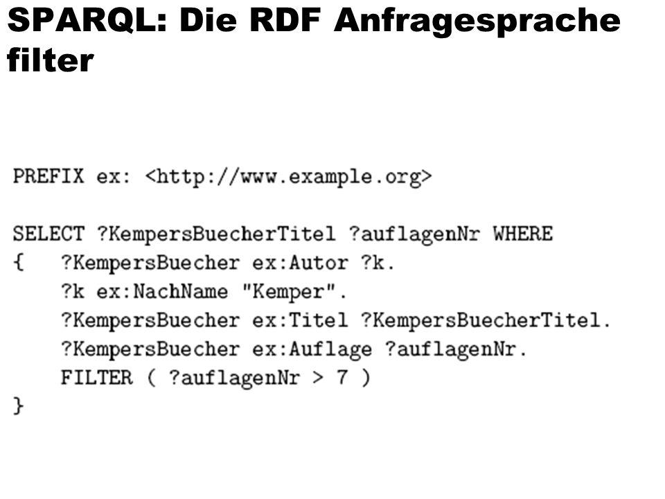 SPARQL: Die RDF Anfragesprache filter