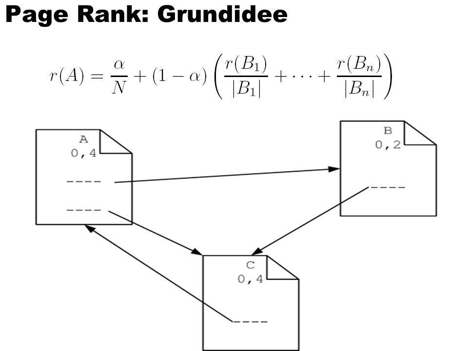 Page Rank: Grundidee