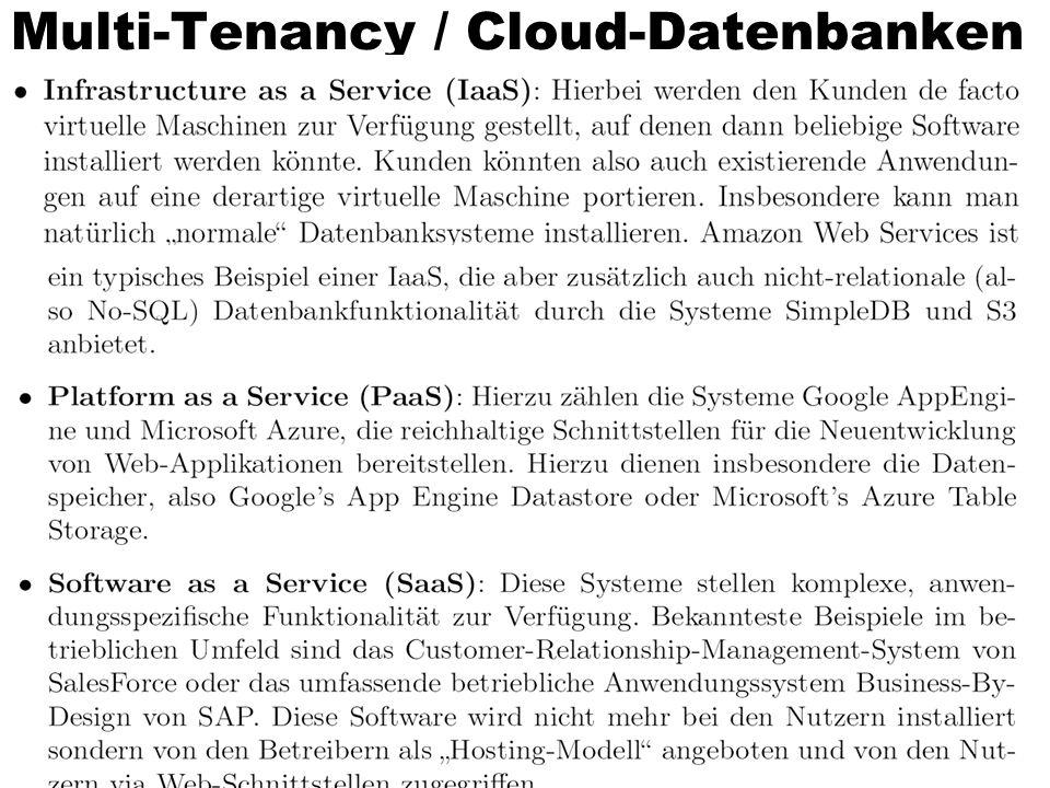 Multi-Tenancy / Cloud-Datenbanken