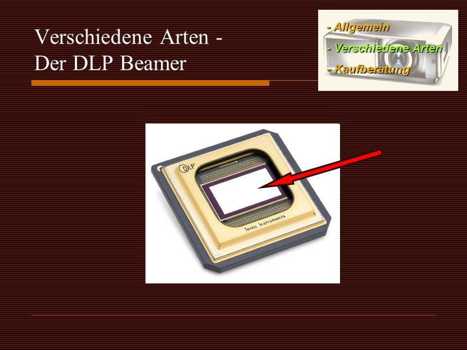 Verschiedene Arten - Der DLP Beamer - Allgemein - Verschiedene Arten - Kaufberatung