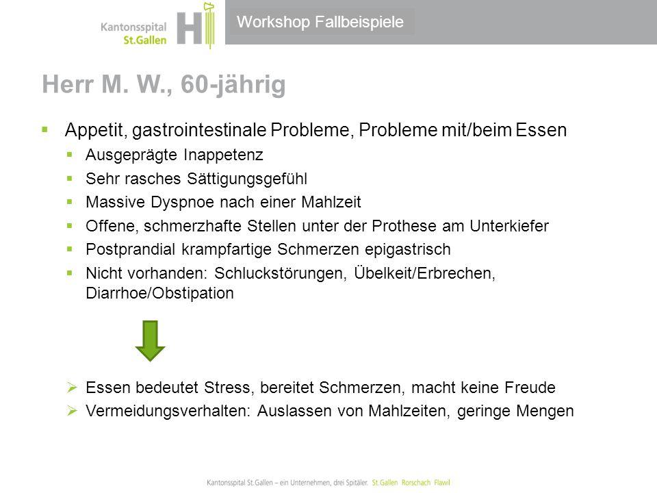 Thema/Bereich/Anlass Herr M.