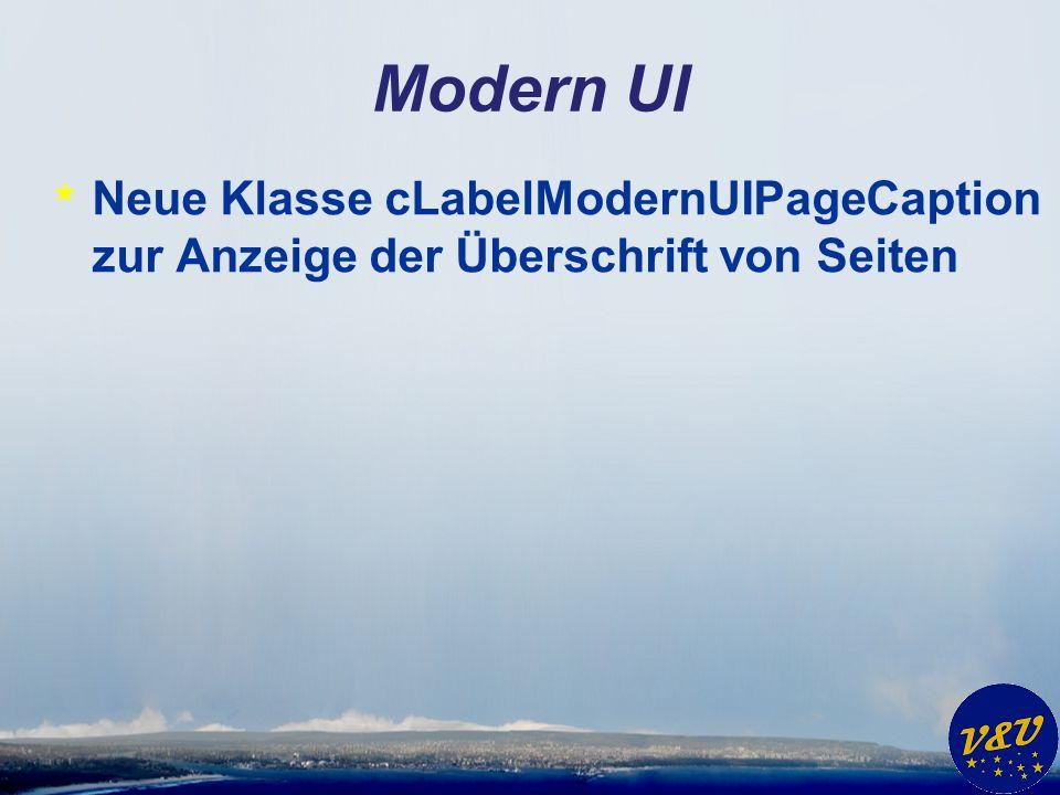 Modern UI * Neue Klasse cLabelModernUIPageCaption zur Anzeige der Überschrift von Seiten