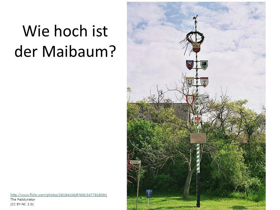 Wie hoch ist der Maibaum? http://www.flickr.com/photos/26194156@N06/2477918091 The Paddynator (CC BY-NC 2.0)