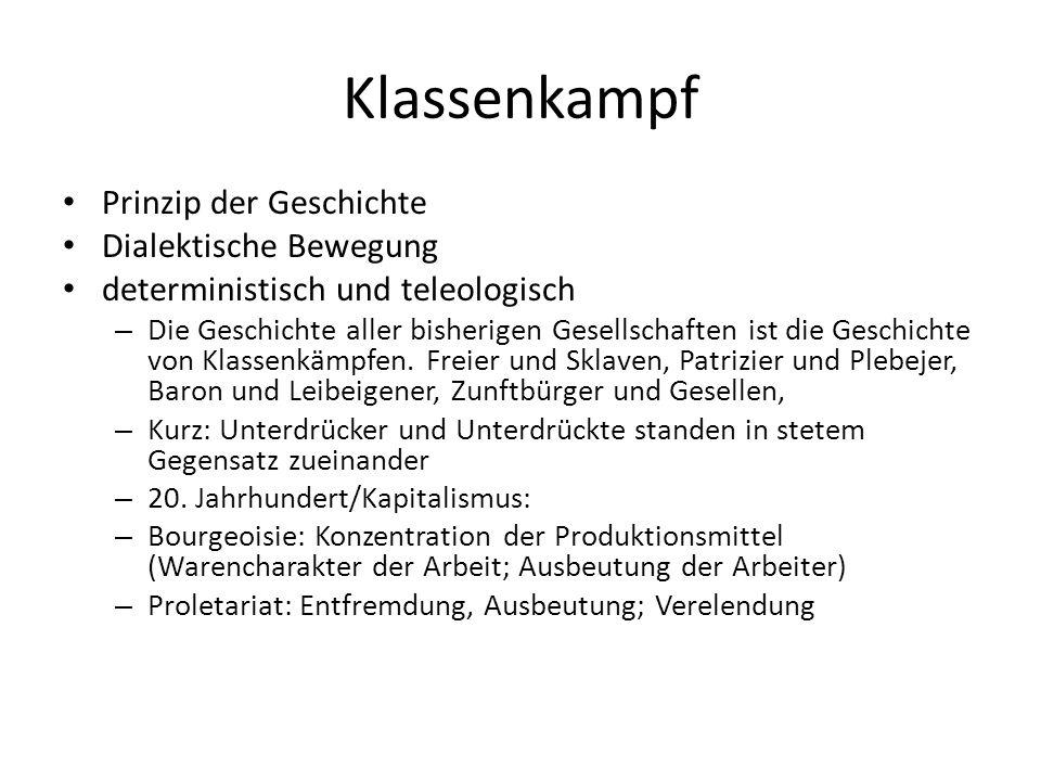 Kritik Kapital und Arbeit: Trifft die Unterscheidung heute noch so zu.