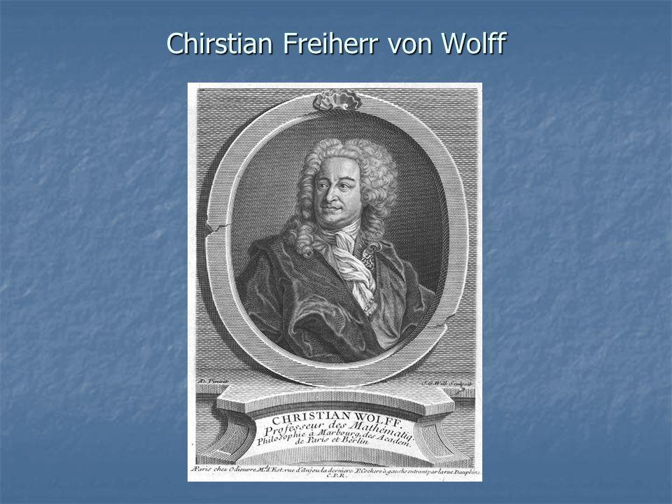 Chirstian Freiherr von Wolff