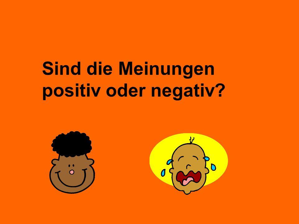 Sind die Meinungen positiv oder negativ?