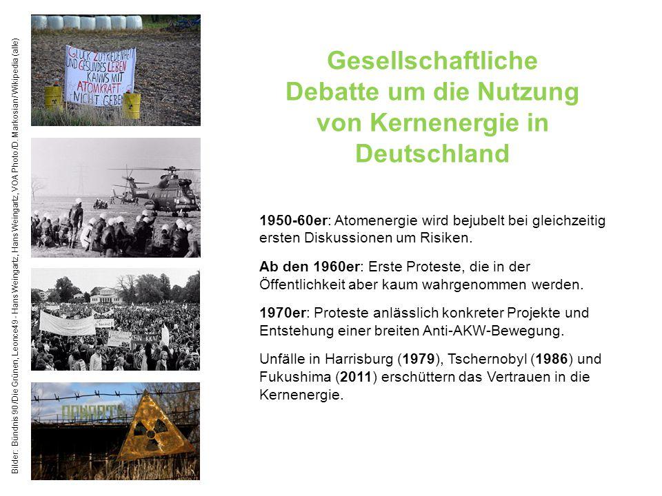 Gesellschaftliche Debatte um die Nutzung von Kernenergie in Deutschland 1950-60er: Atomenergie wird bejubelt bei gleichzeitig ersten Diskussionen um R