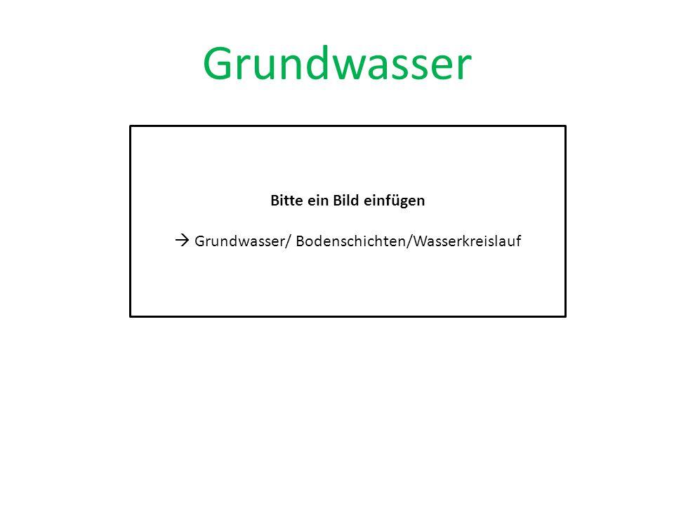 Grundwasser Bitte ein Bild einfügen  Grundwasser/ Bodenschichten/Wasserkreislauf