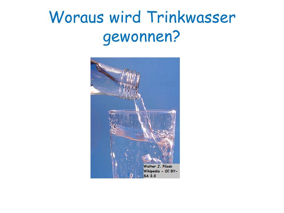 1 Trinkwasser wird aus Süßwasser gewonnen.2 Trinkwasser wird aus Salzwasser gewonnen.