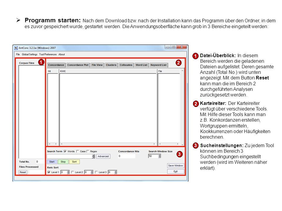  Programm starten: Nach dem Download bzw. nach der Installation kann das Programm über den Ordner, in dem es zuvor gespeichert wurde, gestartet werde