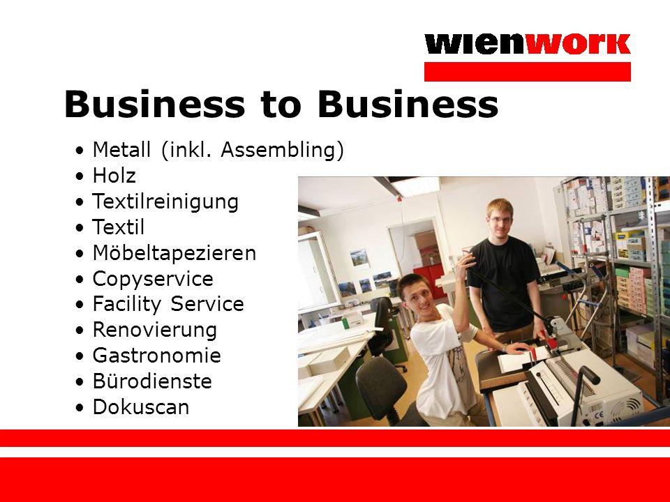Vier Hauptstandorte Tannhäuserplatz: Bürodienste, Copyservice, Holz, Möbeltapezieren, Projekte (ausgen.
