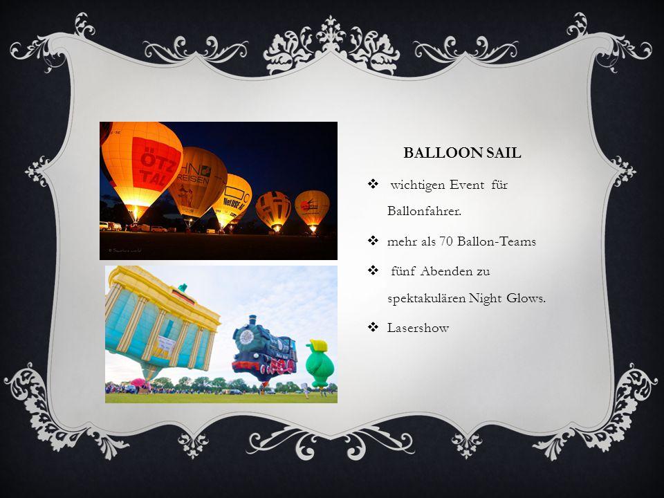 BALLOON SAIL  wichtigen Event für Ballonfahrer.