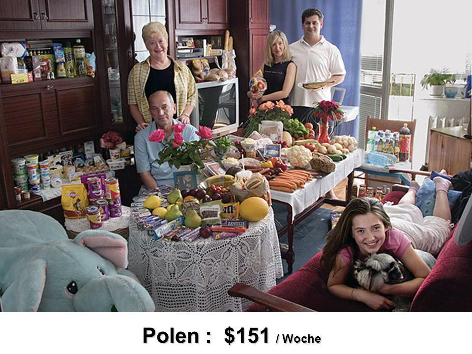 Polen : $151 / Woche