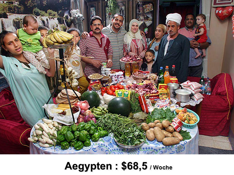 Aegypten : $68,5 / Woche