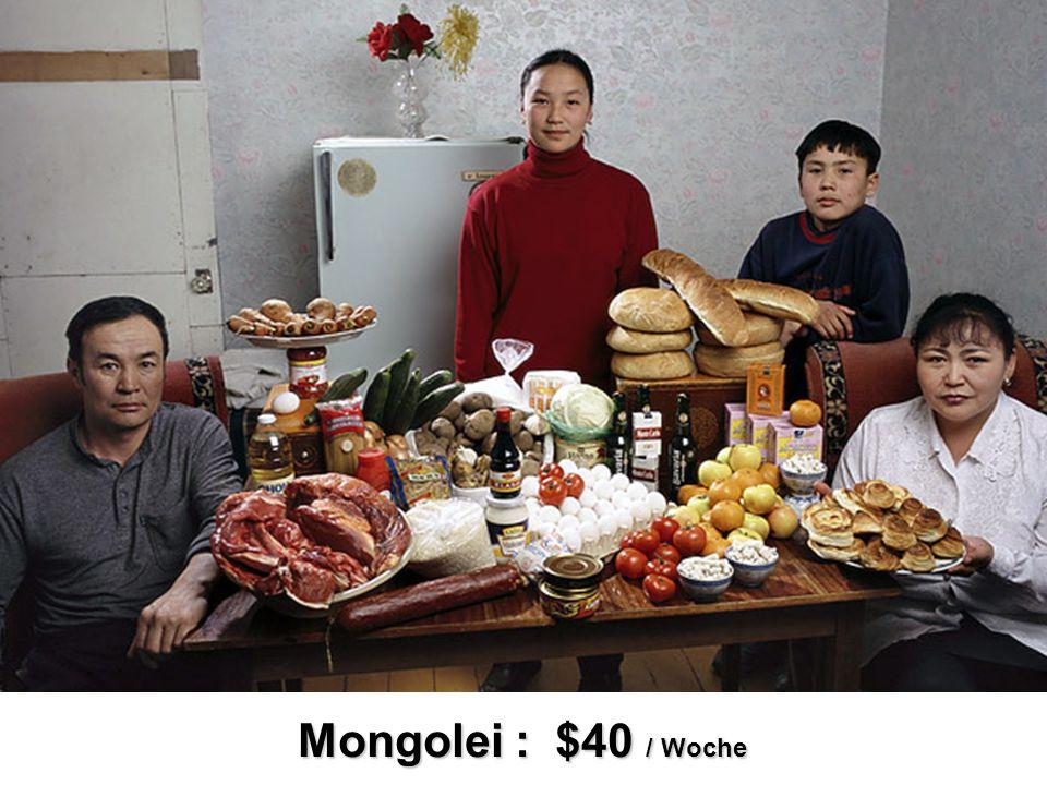 Mongolei : $40 / Woche