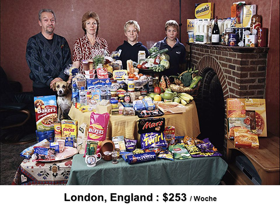 London, England : $253 / Woche