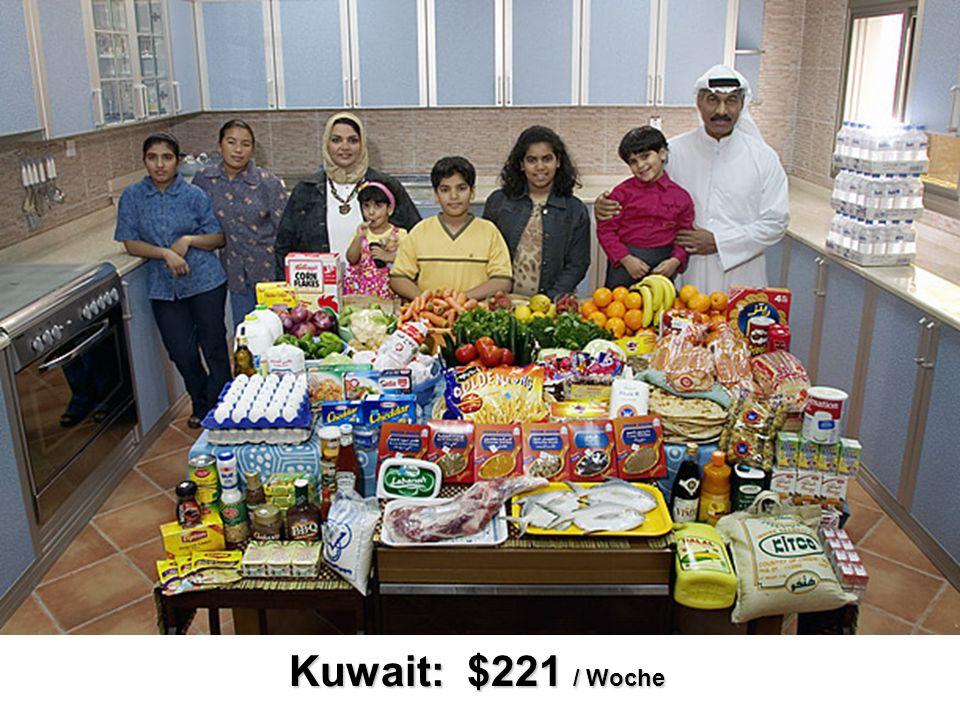 Kuwait: $221 / Woche
