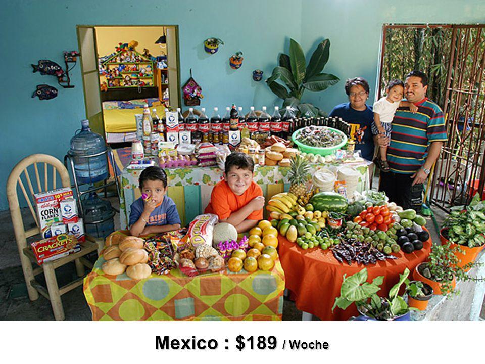 Mexico : $189 / Woche