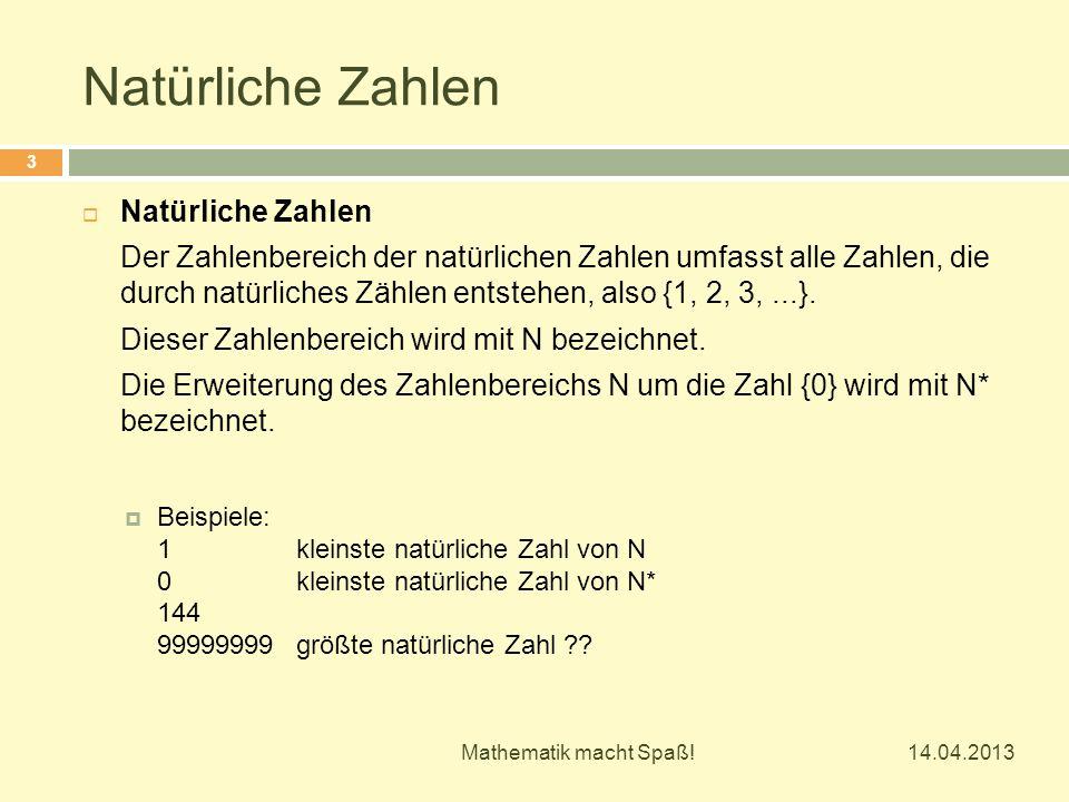 Natürliche Zahlen  Natürliche Zahlen Der Zahlenbereich der natürlichen Zahlen umfasst alle Zahlen, die durch natürliches Zählen entstehen, also {1, 2