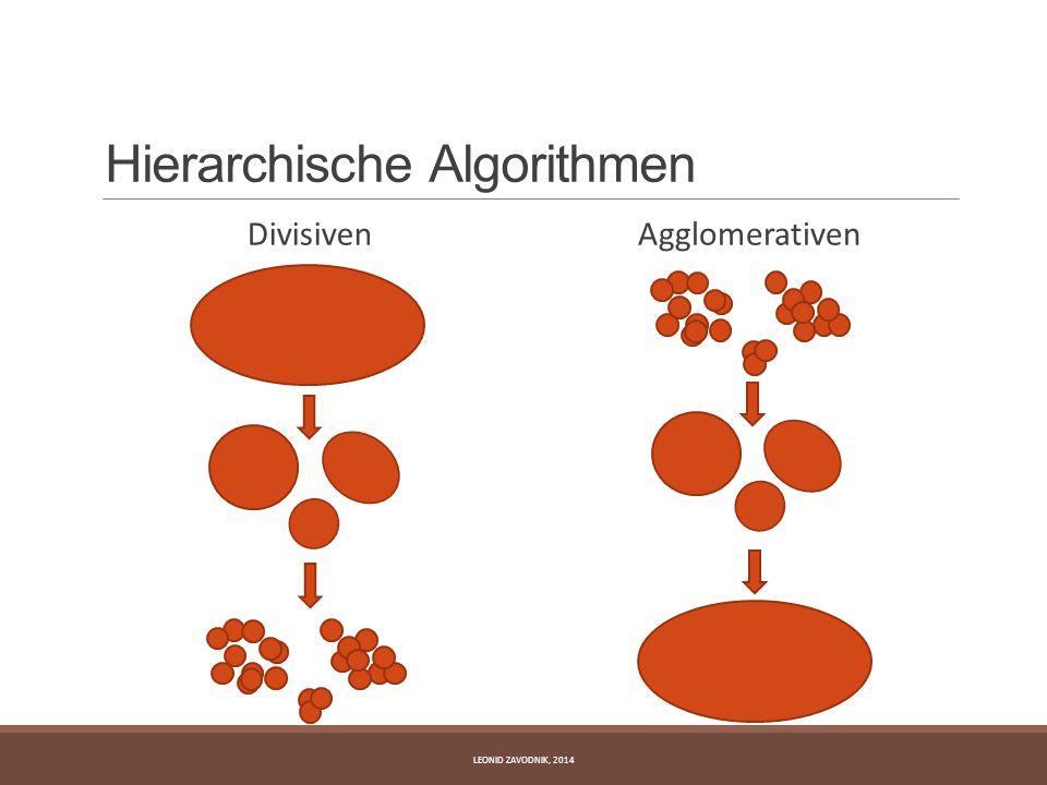 Hierarchische Algorithmen Divisiven Agglomerativen LEONID ZAVODNIK, 2014