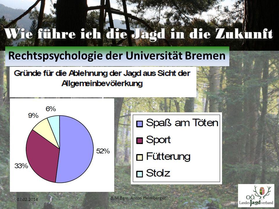 BJM Bgm. Anton Helmberger 8 07.02.2014 Rechtspsychologie der Universität Bremen