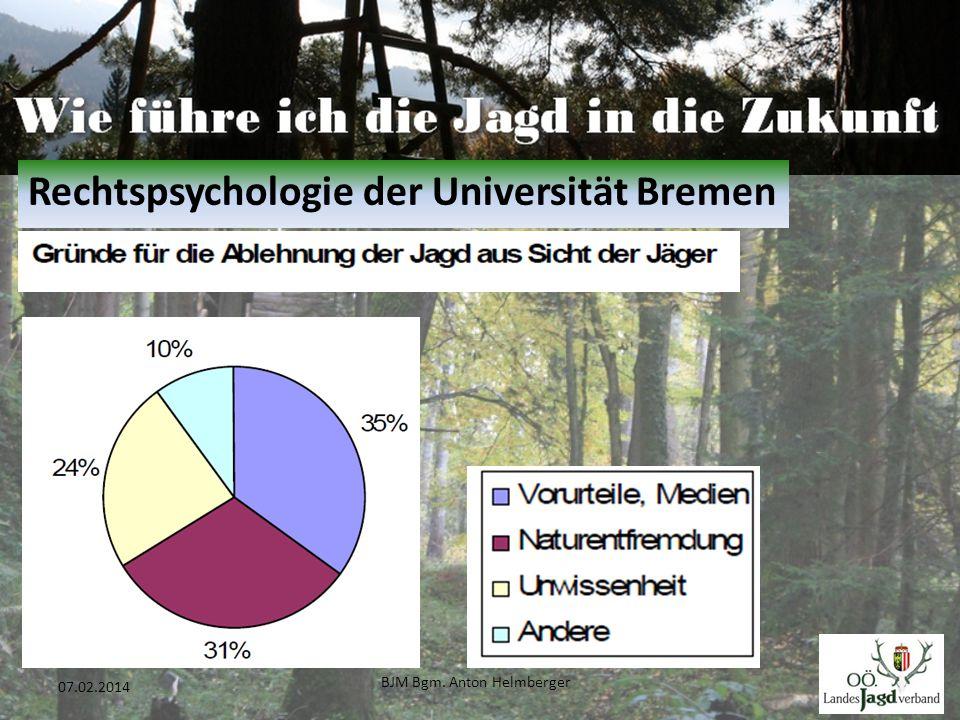 BJM Bgm. Anton Helmberger 9 07.02.2014 Rechtspsychologie der Universität Bremen