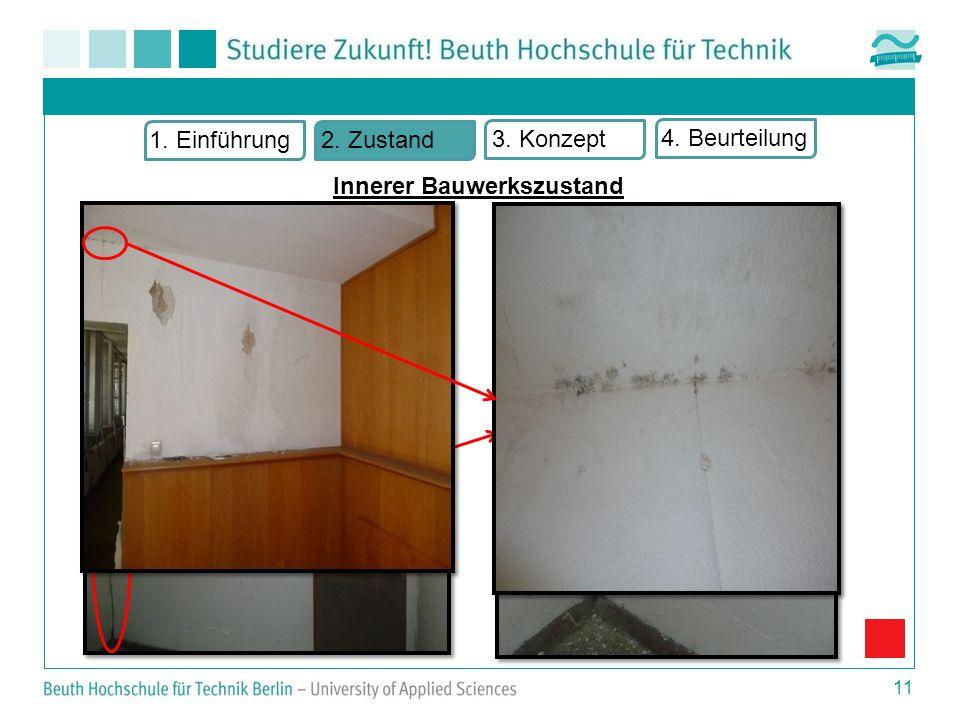  Wandbereich  Rissbildung  Feuchtigkeitsschäden  Keine Originalfenster 11 1.