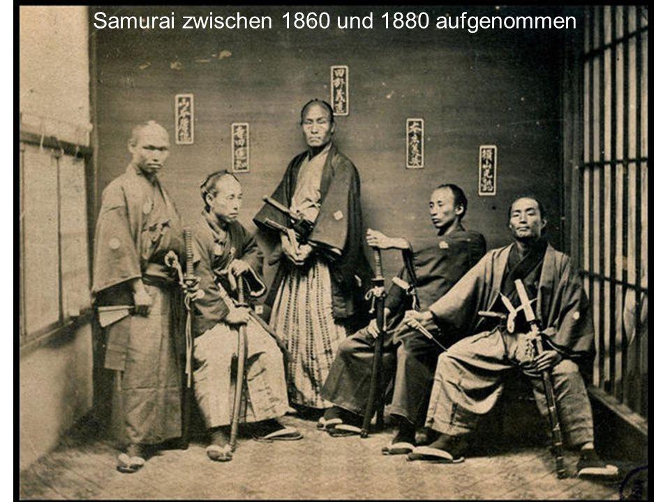 Samurai zwischen 1860 und 1880 aufgenommen