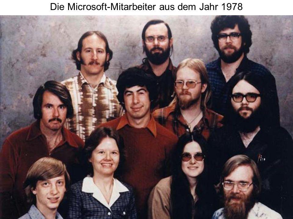 Die Microsoft-Mitarbeiter aus dem Jahr 1978