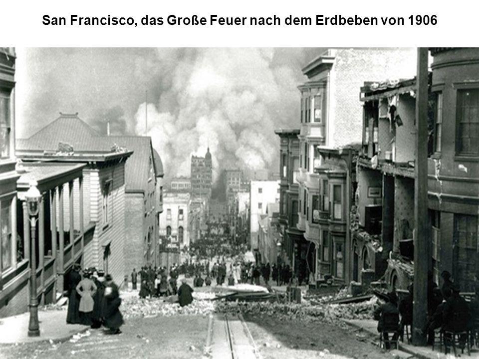 San Francisco, das Große Feuer nach dem Erdbeben von 1906