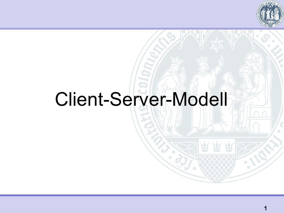 Client-Server-Modell 1