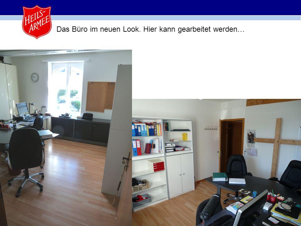 16 Das Büro im neuen Look. Hier kann gearbeitet werden…