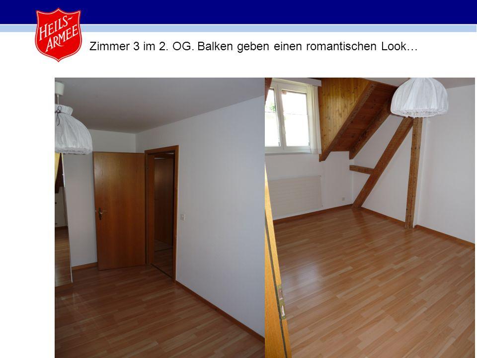17 Zimmer 3 im 2. OG. Balken geben einen romantischen Look…