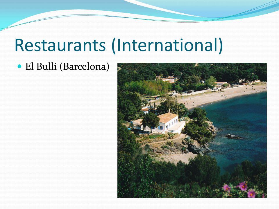 elBulli (Barcelona) Gegründet: 1961 Michellin Sterne: Das elBulli ist ein 3 Sterne Restaurant in Barcelona in der nähe vom Roses, Katalonien, Spanien unter der Leitung von Ferran Adria.