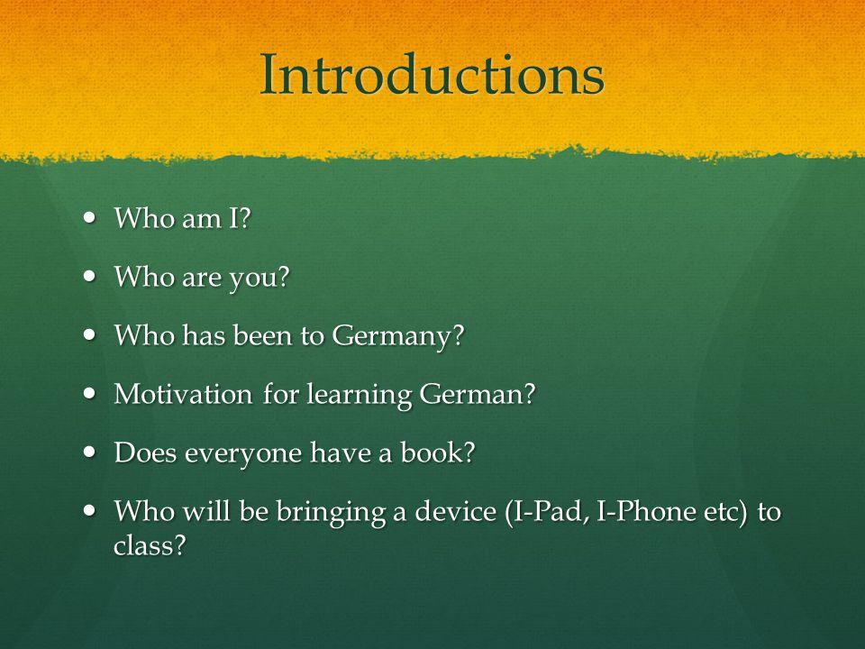 German needs you.