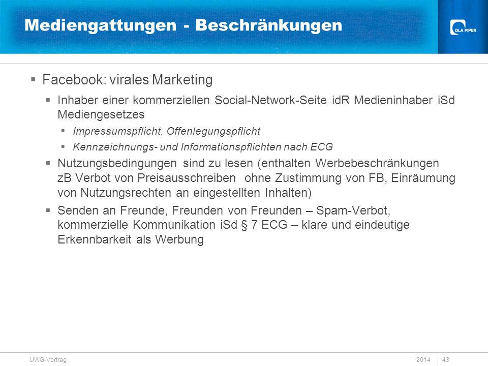  Facebook: virales Marketing  Inhaber einer kommerziellen Social-Network-Seite idR Medieninhaber iSd Mediengesetzes  Impressumspflicht, Offenlegung