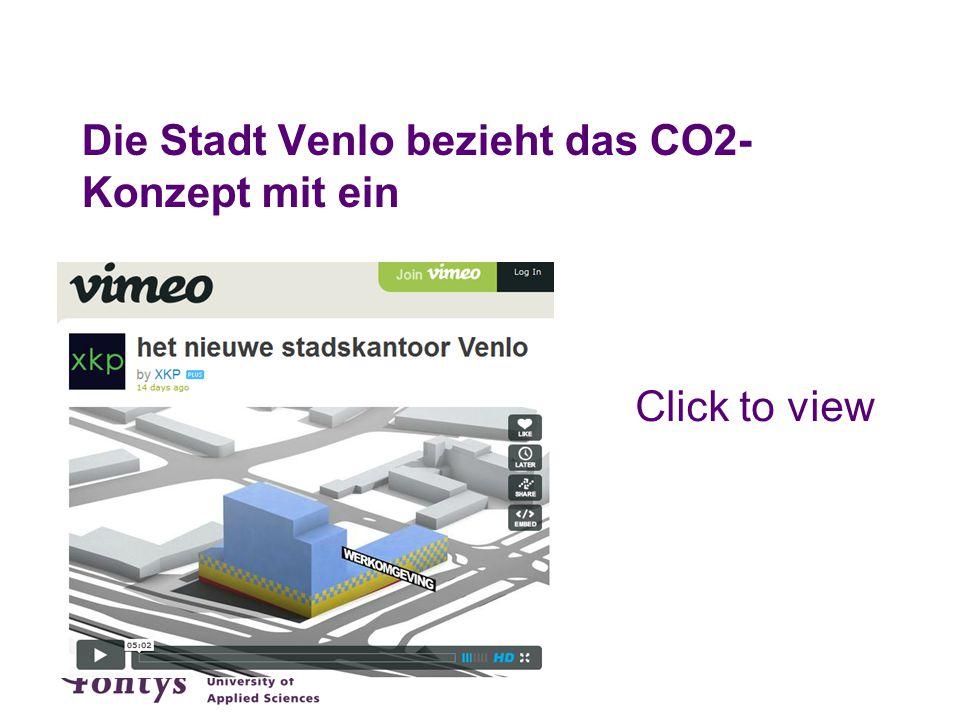 Die Stadt Venlo bezieht das CO2- Konzept mit ein Click to view