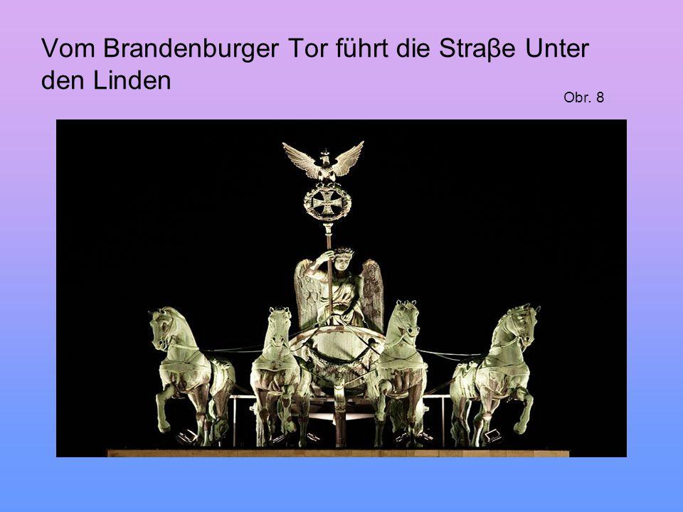 Vom Brandenburger Tor führt die Straβe Unter den Linden Obr. 8