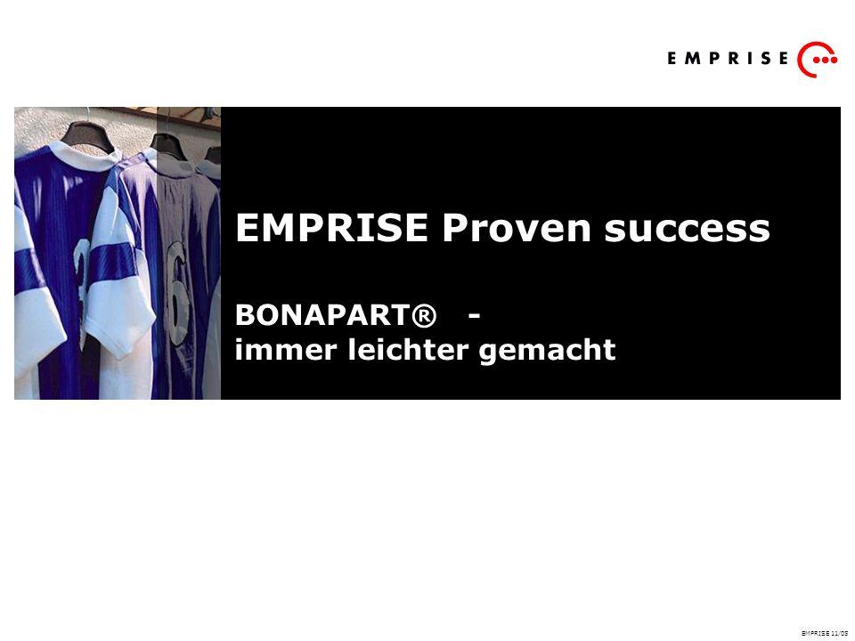 EMPRISE Proven success BONAPART® - immer leichter gemacht EMPRISE 11/05