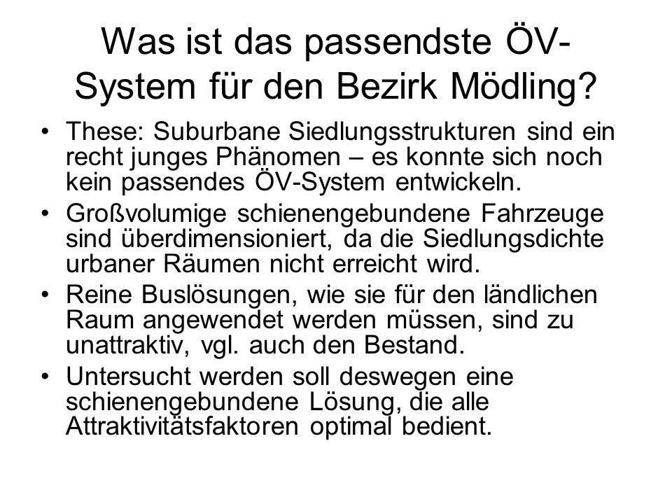 Was ist das passendste ÖV- System für den Bezirk Mödling.