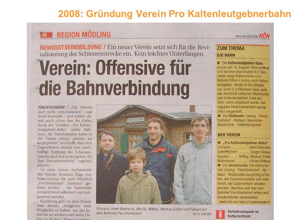 2008: Gründung Verein Pro Kaltenleutgebnerbahn