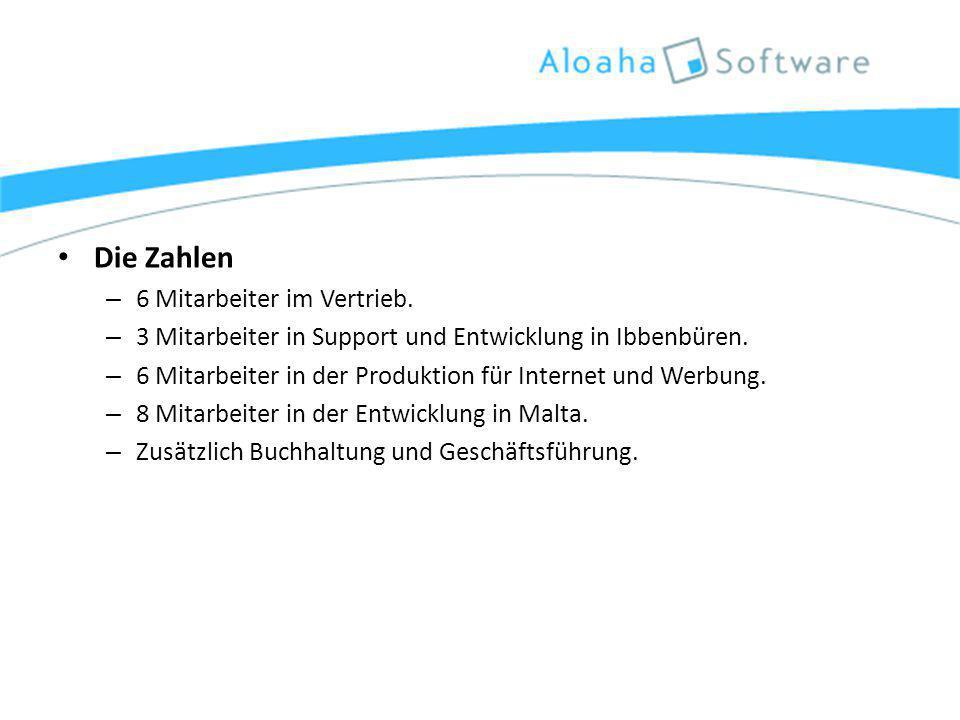 Die Zahlen – 6 Mitarbeiter im Vertrieb. – 3 Mitarbeiter in Support und Entwicklung in Ibbenbüren.